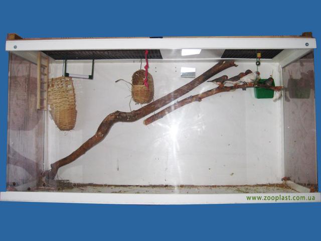 Вольер для амадин размером 100х30х51 см