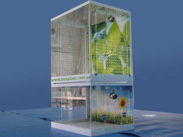 Вольеры для птиц размером 33х23х31 см и 33х23х20 см с нанесением изображения на заднюю стенку